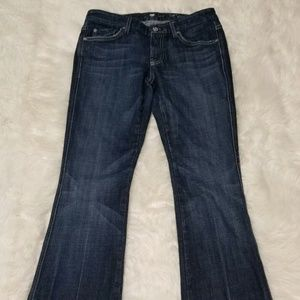 7 For All Mankind Womens A Pocket Blue Jeans sz 28